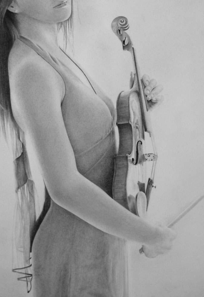 ヴァイオリンを持つ人