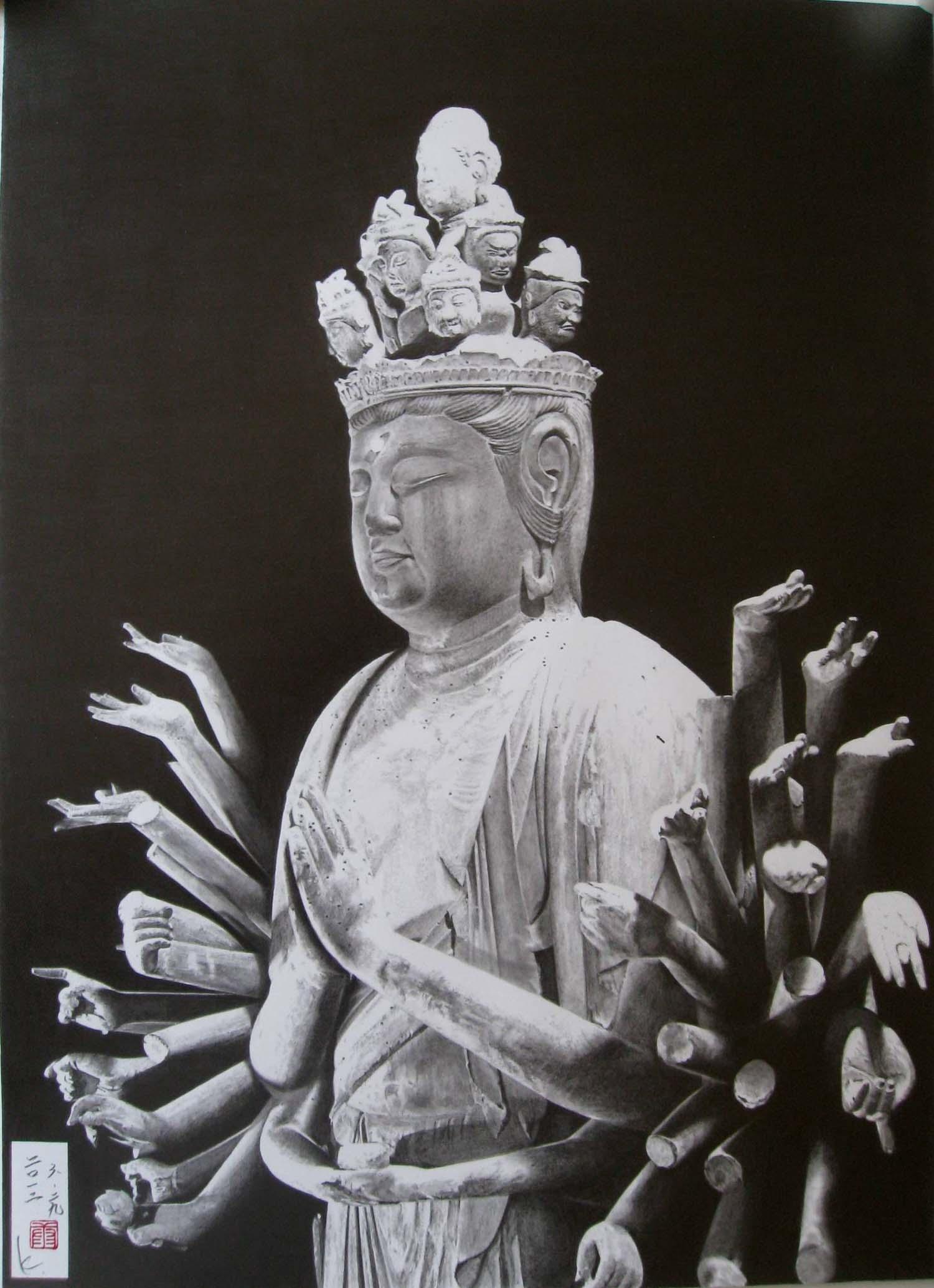 木造千手観音菩薩立像(高野山)
