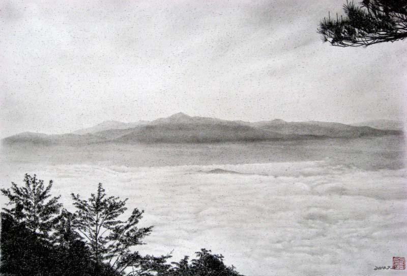 遠野市 高清水からの雲海