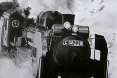 釜石線を疾走するC58